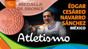 Rio 2016: Édgar Cesáreo Navarro Sánchez (México) Bronce en Atletismo